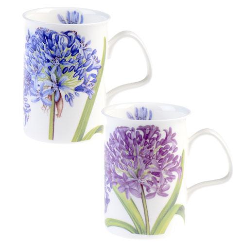 Roy Kirkham Floral Agapanthus Blue Lancaster Mug