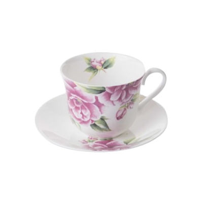 Roy Kirkham Floral Camellia Breakfast Cup & Saucer