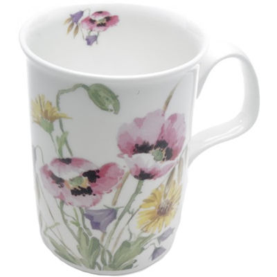 Roy Kirkham Floral English Meadow Lancaster Mug Pink