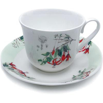 Fuchsia Teacup & Saucer