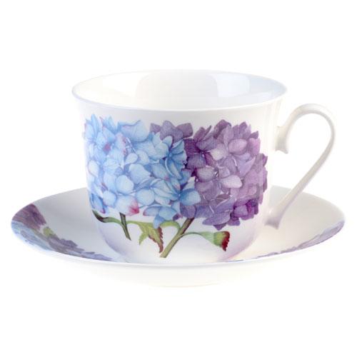 Hydrangea Blue Breakfast Cup & Saucer