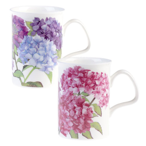 Hydrangea Blue Lancaster Mug