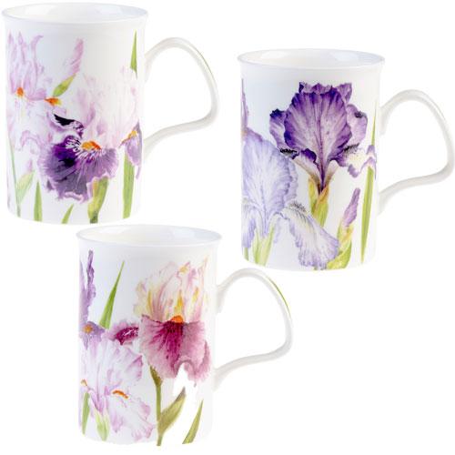 Roy Kirkham Floral Iris Lancaster Mug I