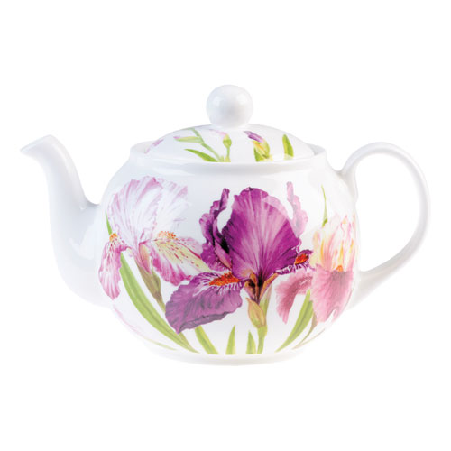 Roy Kirkham Floral Iris Large Teapot