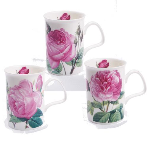 Roy Kirkham Floral Les Roses Lancaster Mug Pink