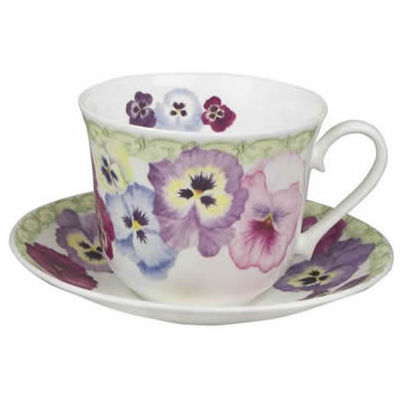 Pansy Breakfast Cup & Saucer
