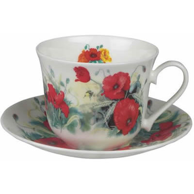 Poppy Breakfast Cup & Saucer