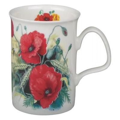 Roy Kirkham Floral Poppy Lancaster Mug