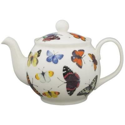 Roy Kirkham Nature Butterfly Garden Round Teapot Large