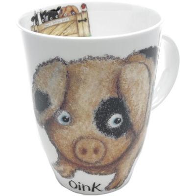 Roy Kirkham Nature Shut The Gate Louise Mug Pig