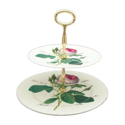 Roy Kirkham Redoute Rose 2 Tier Cake Stand Louis Potts