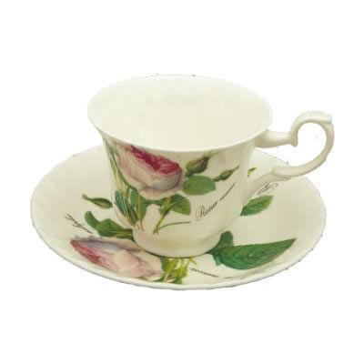 Roy Kirkham Redoute Rose Teacup & Saucer Standard