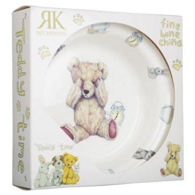 Roy Kirkham Teddy Bears Teddy Time Blue Bowl Giftboxed