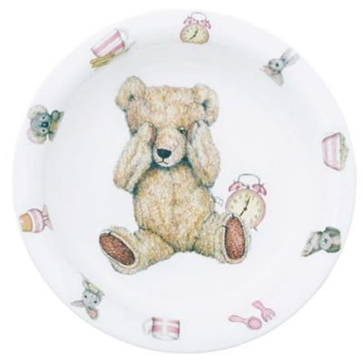 Roy Kirkham Teddy Bears Teddy Time Pink Bowl Giftboxed