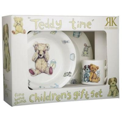 Roy Kirkham Teddy Bears Teddy Time Pink Childrens Gift Set