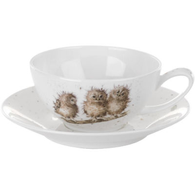 Wrendale Cappuccino Cup & Saucer Owls