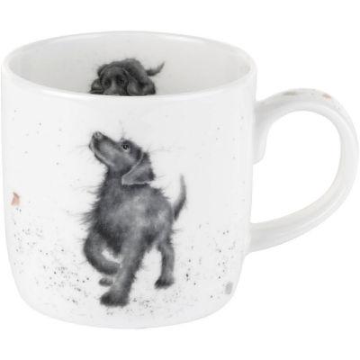 Wrendale Walkies Black Labrador Dog Mug
