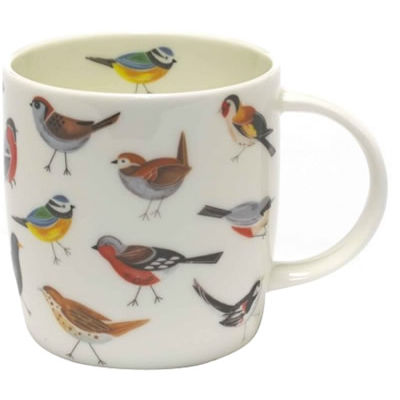 RSPB Birds Bird Song Sophie Mug White