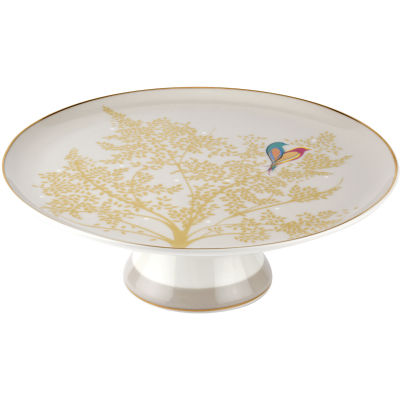 Sara Miller Chelsea Collection Footed Cake Plate Chelsea Light Grey