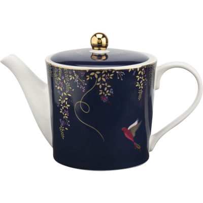 Sara Miller Chelsea Collection Teapot Small Chelsea Navy Blue