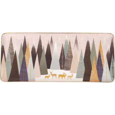 Sara Miller Frosted Pines Collection Sandwich Tray 36cm Frosted Pines