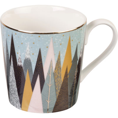 Sara Miller Frosted Pines Collection Tea For One Frosted Pines