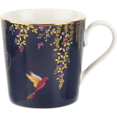 Sara Miller Chelsea Collection Mug Chelsea Navy Blue