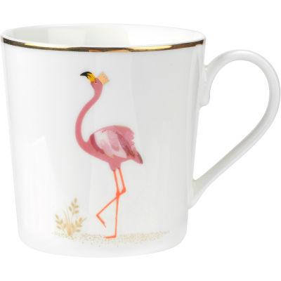 Sara Miller The Collection Mug Piccadilly Flamboyant Flamingo