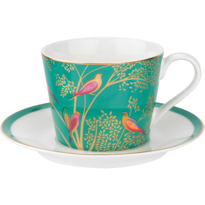 Sara Miller Chelsea Collection Teacup & Saucer Chelsea Green