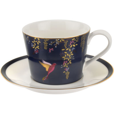 Sara Miller Chelsea Collection Teacup & Saucer Chelsea Navy Blue