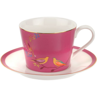 Sara Miller Chelsea Collection Teacup & Saucer Chelsea Pink
