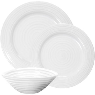 Sophie Conran White 12-Piece Dinner Set Rim