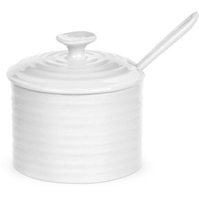 Sophie Conran White Condiment Pot & Spoon