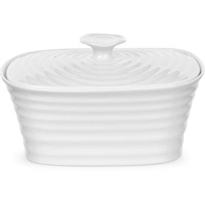 Sophie Conran White Covered Butter Dish Large