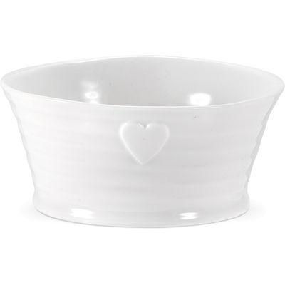 Sophie Conran White Embossed Heart Bowl