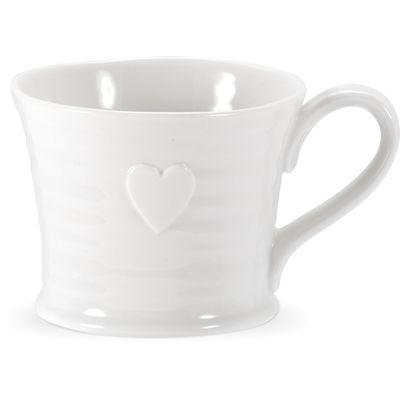 Sophie Conran White Embossed Heart Mug