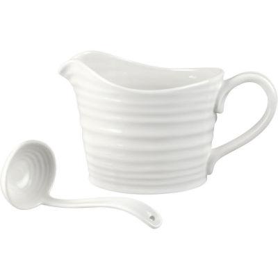 Sophie Conran White Sauce Jug & Mini Ladle Set