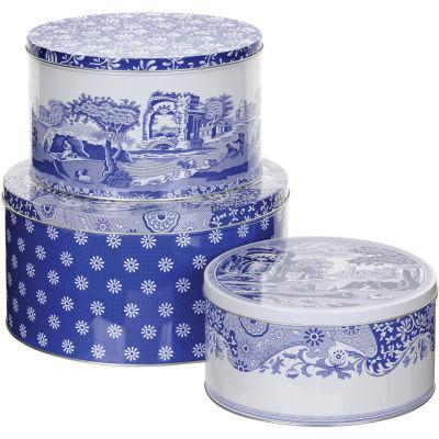 Spode Blue Italian Cake Tin Set of 3