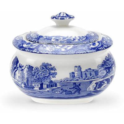 Spode Blue Italian Covered Sugar Box 0.25L