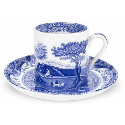 Spode Blue Italian Espresso Cup & Saucer