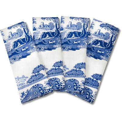 Spode Blue Italian Napkins Set of 4