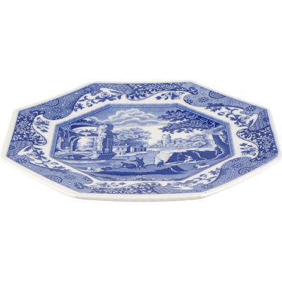 Spode Blue Italian Octagonal Platter 24cm