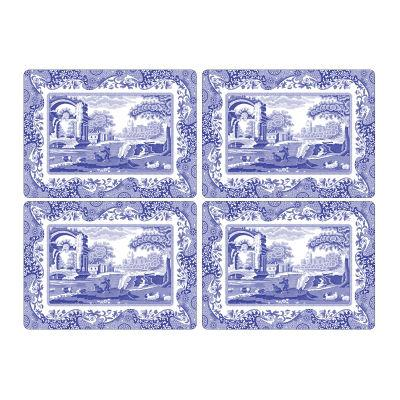 Spode Blue Italian Rectangular Placemats Set of 4