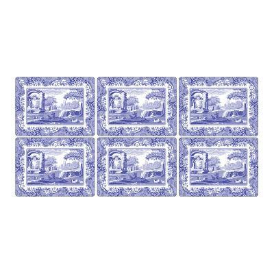 Spode Blue Italian Rectangular Placemats Set of 6