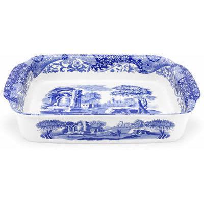 Spode Blue Italian Rectangular Roasting Dish 38cm