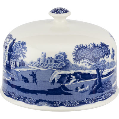Spode Blue Italian Serving Platter With Dome