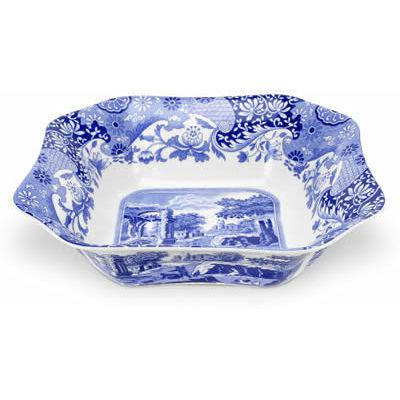 Spode Blue Italian Square Salad Bowl 23cm