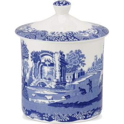 Spode Blue Italian Storage Jar 19cm
