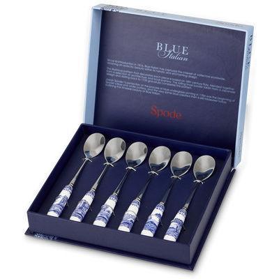 Spode Blue Italian Tea Spoons 15cm Set of 6