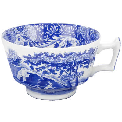 Spode Blue Italian Teacup 0 2l